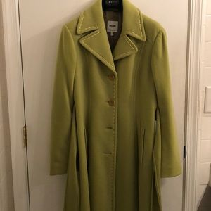 Citron green Moschino coat.